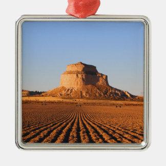 Scottsbluff Nebraska, das Quadratisches Silberfarbenes Ornament