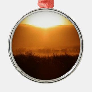 Scottsbluff Nebraska, das Rundes Silberfarbenes Ornament