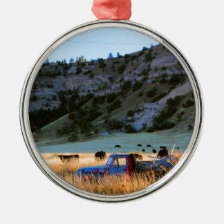 Scottsbluff Nebraska, das Silbernes Ornament