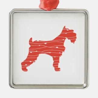 Scotty Hund Silbernes Ornament