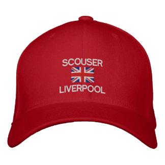 Scouser Liverpool britische Flagge Liverpudian Bestickte Kappe