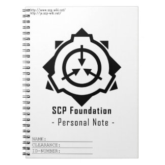 SCP Foundation notepad: symple-W[SCP Foundation] Spiral Notizblock