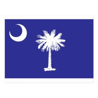 Scpalmetto-Mond-Staats-Flagge Postkarte