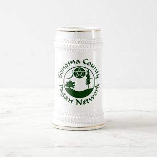 SCPN Kreis-Logo-- weißes u. silbernes Bier Stein - Bierglas
