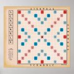 Scrabble Vintages Gamboard Plakatdrucke