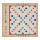 Scrabble Vintages Gameboard Poster