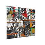 Scrappy abstrakte eingewickelte Leinwand Gespannter Galeriedruck