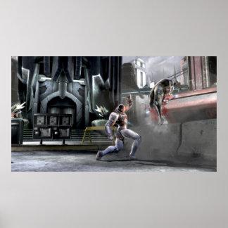 Screenshot: Cyborg gegen Nightwing Poster