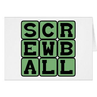 Screwball, Art der Neigung oder Komödie Karte