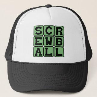 Screwball, Art der Neigung oder Komödie Truckerkappe