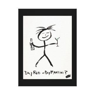 Screwballs™ DryRedDryMartini Leinwand-Kunst Leinwanddruck
