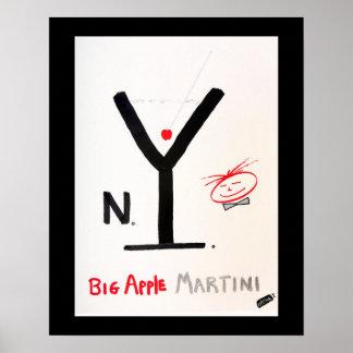 Screwballs™ NY Martini Plakat-Kunst Poster