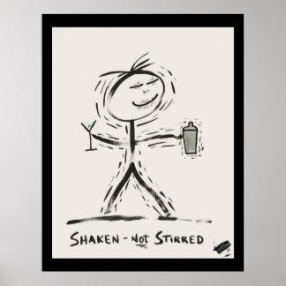 Screwballs™ ShakenNotStirred Plakat-Kunst Poster