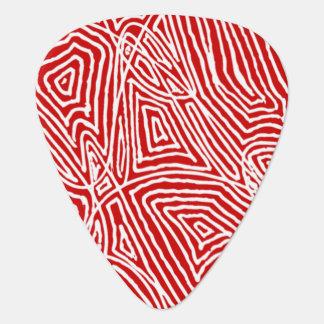 Scribbleprint - Rot Plektron