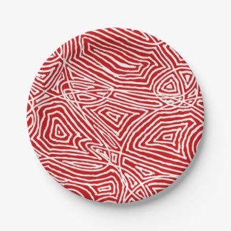Scribbleprints Rot Pappteller