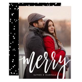 Scripted fröhliche Feiertags-Foto-Karte 12,7 X 17,8 Cm Einladungskarte