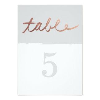 Scripted Imitat-Folien-Tischnummern der Liebe Karte