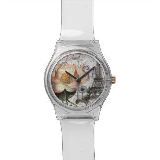 scripts französischen botanischen armbanduhr
