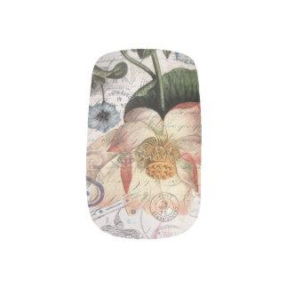 scripts französischen botanischen minx nagelkunst