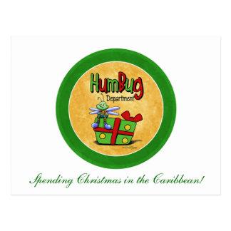 Scrooge Feiertag - Bah Humbug Postkarte
