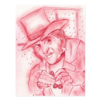 Scrooge im Rot Postkarte