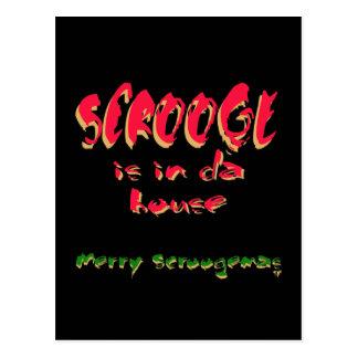 Scrooge ist in DA-Haus Postkarte