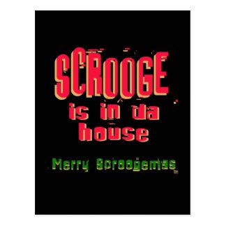 Scrooge ist in DA house2 Postkarte