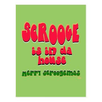 Scrooge ist in DA house3 Postkarte