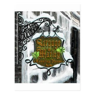 Scrooge&MarleySignScene Postkarte