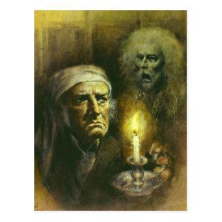 Scrooge und Geist-Postkarte Postkarte