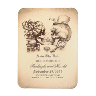 Scullpaare Tag der Toten Save the Date Magnet