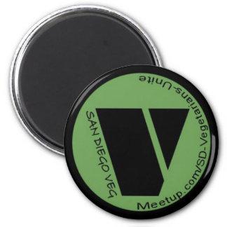 Sd-Vegetarier vereinigen! Runder Magnet 5,7 Cm