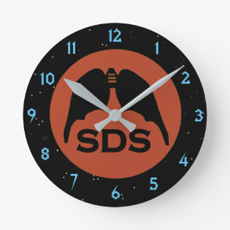 Sds-SYMBOL durch Slipperywindow Runde Wanduhr