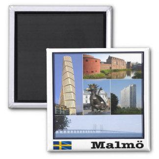Se - Schweden - Malmö Quadratischer Magnet
