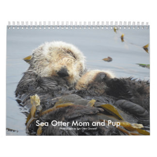 Sea Otter Mom and Pup Calendar #1 Wandkalender