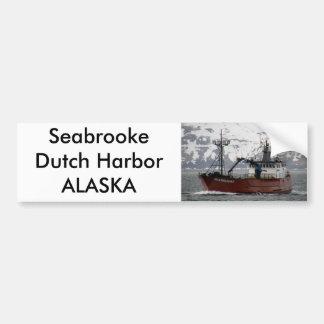Seabrooke, Krabben-Boot im niederländischen Hafen, Autoaufkleber