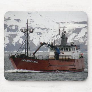 Seabrooke, Krabben-Boot im niederländischen Hafen, Mousepad