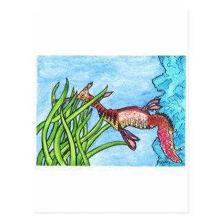 Seadragon durch Sally Stevens Postkarte