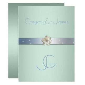Seafoam Grün und Silber, homosexuelle Karte