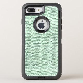 Seafoam Grün-Webart-Maschen-Blick OtterBox Defender iPhone 8 Plus/7 Plus Hülle