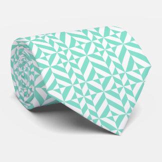 Seafoam grünes geometrisches Deko-Würfel-Muster Individuelle Krawatten