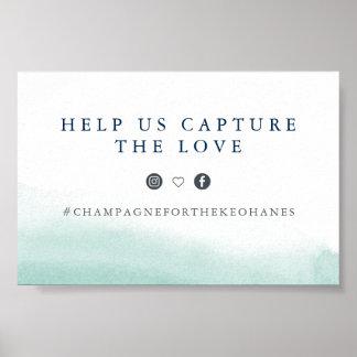 Seaglass Gezeiten, die Hashtag Zeichen Wedding Poster
