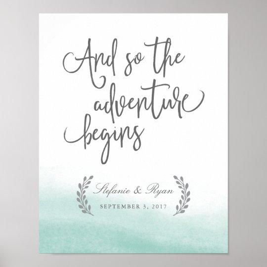 Seaglass Gezeiten, die Willkommensschild Wedding Poster