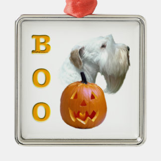 Sealyham Terrier Boo Silbernes Ornament