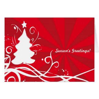 Seaonss Grüße! Kunstvoller weißer/roter Karte