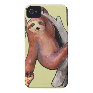 seapunk vaporwave grunge kawaii cute sloth Pizza iPhone 4 Hülle
