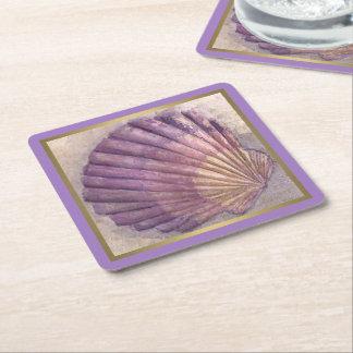 Seashell 2 rechteckiger pappuntersetzer