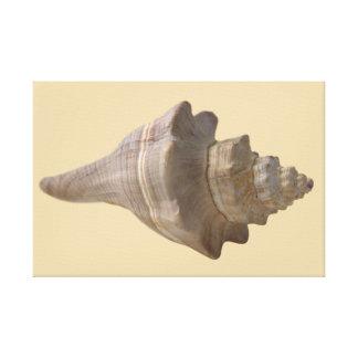 Seashell auf dem Strand-Leinwand-Druck Leinwanddruck