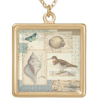 Seashell-Collage Vergoldete Kette