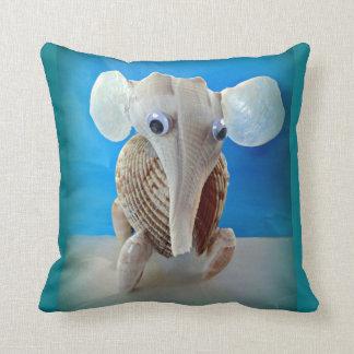Seashell-Elefant-Handwerk TierSanibel Insel FL Kissen